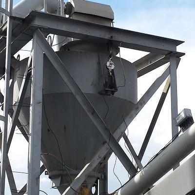 Cement bunkerweegsysteem