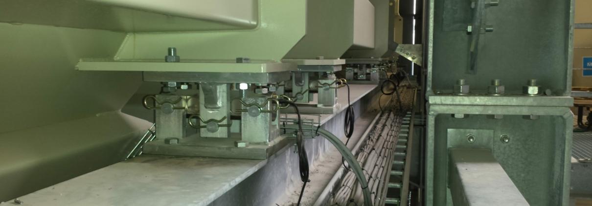 Silo's voorzien van weegcellen om vrachtwagens correct te laden