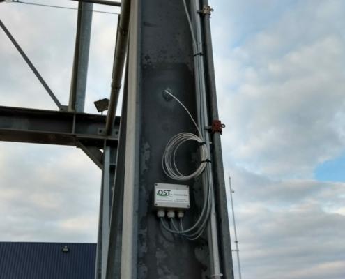 Weegelektronica voorzien van software om containers vol en leeg te wegen
